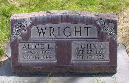 HAWKINS WRIGHT, ALICE L. - Box Butte County, Nebraska | ALICE L. HAWKINS WRIGHT - Nebraska Gravestone Photos