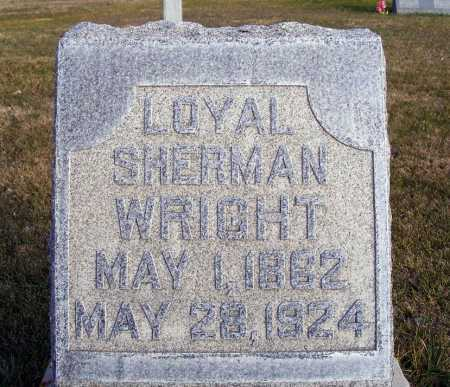 WRIGHT, LOYAL SHERMAN - Box Butte County, Nebraska | LOYAL SHERMAN WRIGHT - Nebraska Gravestone Photos