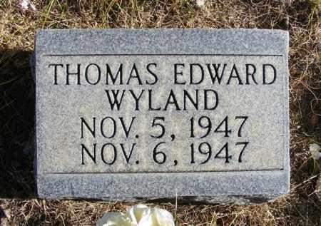 WYLAND, THOMAS EDWARD - Box Butte County, Nebraska | THOMAS EDWARD WYLAND - Nebraska Gravestone Photos