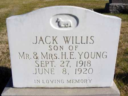 YOUNG, JACK WILLIS - Box Butte County, Nebraska | JACK WILLIS YOUNG - Nebraska Gravestone Photos