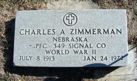 ZIMMERMAN, CHARLES A. - Box Butte County, Nebraska | CHARLES A. ZIMMERMAN - Nebraska Gravestone Photos