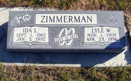 ZIMMERMAN, IDA L. - Box Butte County, Nebraska | IDA L. ZIMMERMAN - Nebraska Gravestone Photos