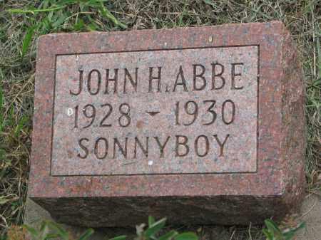ABBE, JOHN H. - Boyd County, Nebraska | JOHN H. ABBE - Nebraska Gravestone Photos
