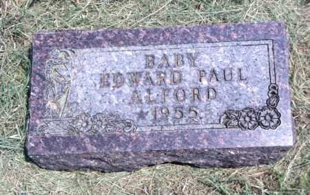 ALFORD, EDWARD PAUL - Boyd County, Nebraska | EDWARD PAUL ALFORD - Nebraska Gravestone Photos