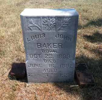 BAKER, LOUIS JOHN - Boyd County, Nebraska | LOUIS JOHN BAKER - Nebraska Gravestone Photos