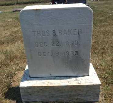 BAKER, THOS. S. - Boyd County, Nebraska | THOS. S. BAKER - Nebraska Gravestone Photos