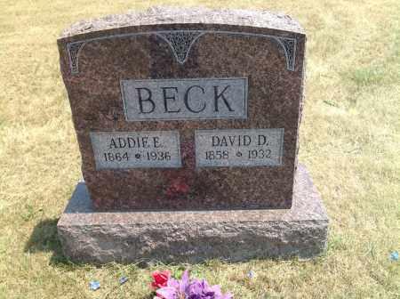 BECK, ADDIE E. - Boyd County, Nebraska | ADDIE E. BECK - Nebraska Gravestone Photos