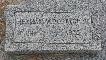 BOETTCHER, HERMAN W. - Boyd County, Nebraska   HERMAN W. BOETTCHER - Nebraska Gravestone Photos