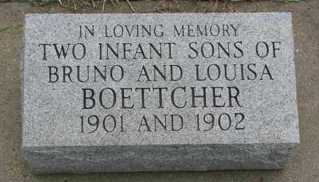 BOETTCHER, INFANT SONS - Boyd County, Nebraska | INFANT SONS BOETTCHER - Nebraska Gravestone Photos
