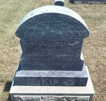 BRALEY, ELISABETH A. - Boyd County, Nebraska | ELISABETH A. BRALEY - Nebraska Gravestone Photos