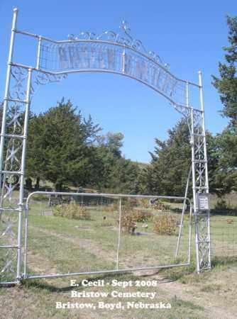 *BRISTOW CEMETERY, ENTRANCE - Boyd County, Nebraska | ENTRANCE *BRISTOW CEMETERY - Nebraska Gravestone Photos