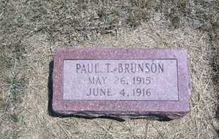 BRUNSON, PAUL T. - Boyd County, Nebraska | PAUL T. BRUNSON - Nebraska Gravestone Photos