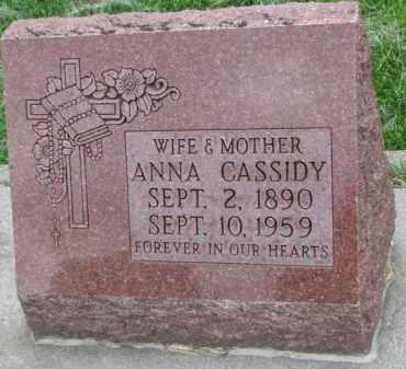 CASSIDY, ANNA - Boyd County, Nebraska | ANNA CASSIDY - Nebraska Gravestone Photos