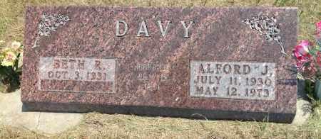 DAVY, BETH R - Boyd County, Nebraska | BETH R DAVY - Nebraska Gravestone Photos