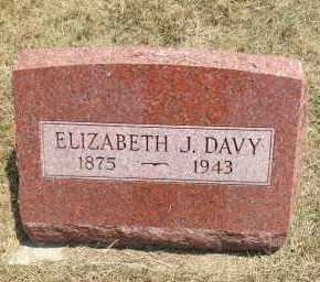 DAVY, ELIZABETH J - Boyd County, Nebraska   ELIZABETH J DAVY - Nebraska Gravestone Photos
