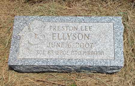 ELLYSON, PRESTON LEE - Boyd County, Nebraska | PRESTON LEE ELLYSON - Nebraska Gravestone Photos