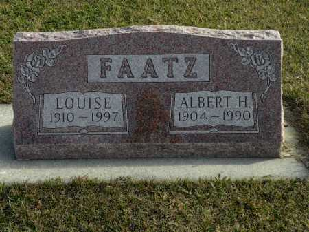 FAATZ, ALBERT H. - Boyd County, Nebraska | ALBERT H. FAATZ - Nebraska Gravestone Photos