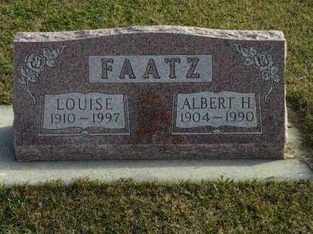 FAATZ, LOUISE - Boyd County, Nebraska   LOUISE FAATZ - Nebraska Gravestone Photos
