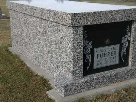 "FUHRER, AGNES ""JANE"" - Boyd County, Nebraska | AGNES ""JANE"" FUHRER - Nebraska Gravestone Photos"