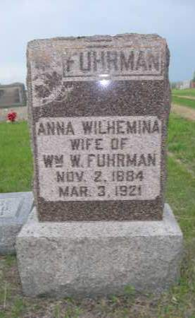 FUHRMAN, ANNA WILHEMINA - Boyd County, Nebraska | ANNA WILHEMINA FUHRMAN - Nebraska Gravestone Photos
