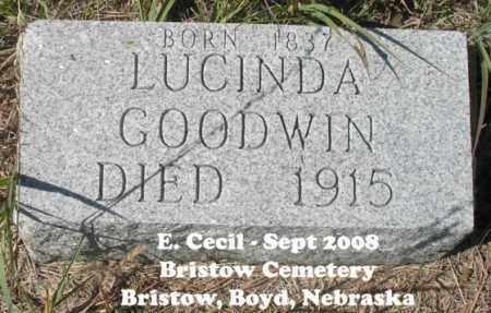 GOODWIN, LUCIND - Boyd County, Nebraska | LUCIND GOODWIN - Nebraska Gravestone Photos