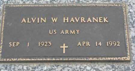 HAVRANEK, ALVIN W. - Boyd County, Nebraska | ALVIN W. HAVRANEK - Nebraska Gravestone Photos