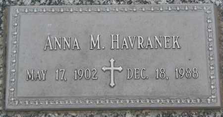 HAVRANEK, ANNA M. - Boyd County, Nebraska   ANNA M. HAVRANEK - Nebraska Gravestone Photos