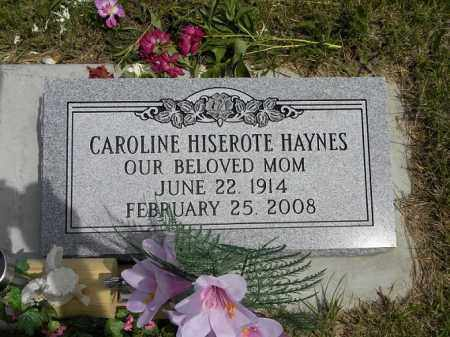 HISEROTE HAYNES, CAROLINE - Boyd County, Nebraska   CAROLINE HISEROTE HAYNES - Nebraska Gravestone Photos
