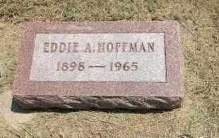 HOFFMAN, EDDIE A. - Boyd County, Nebraska   EDDIE A. HOFFMAN - Nebraska Gravestone Photos