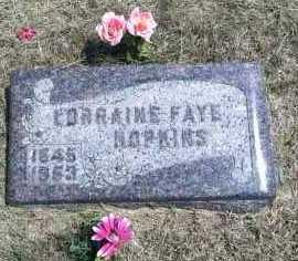 HOPKINS, LORRAINE FAYE - Boyd County, Nebraska | LORRAINE FAYE HOPKINS - Nebraska Gravestone Photos