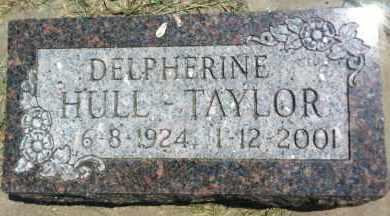 HULL TAYLOR, DELPHERINE - Boyd County, Nebraska | DELPHERINE HULL TAYLOR - Nebraska Gravestone Photos
