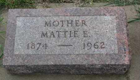 JANSSEN, MATTIE E. - Boyd County, Nebraska | MATTIE E. JANSSEN - Nebraska Gravestone Photos