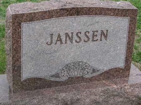 JANSSEN, PLOT STONE - Boyd County, Nebraska | PLOT STONE JANSSEN - Nebraska Gravestone Photos