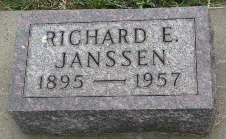 JANSSEN, RICHARD E. - Boyd County, Nebraska | RICHARD E. JANSSEN - Nebraska Gravestone Photos