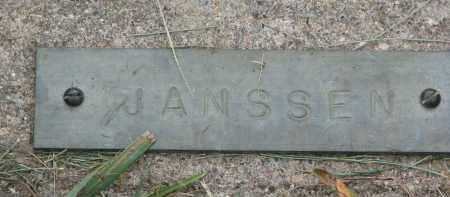 JANSSEN, UNKNOWN - Boyd County, Nebraska | UNKNOWN JANSSEN - Nebraska Gravestone Photos