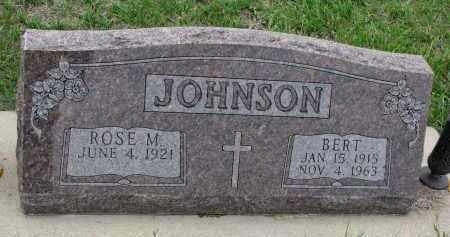 JOHNSON, BERT - Boyd County, Nebraska | BERT JOHNSON - Nebraska Gravestone Photos