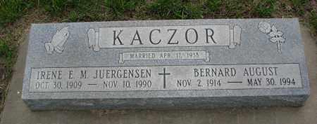 JUERGENSEN KACZOR, IRENE M. - Boyd County, Nebraska | IRENE M. JUERGENSEN KACZOR - Nebraska Gravestone Photos