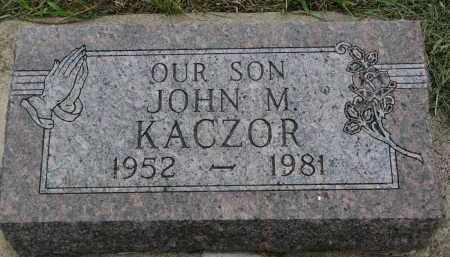 KACZOR, JOHN M. - Boyd County, Nebraska | JOHN M. KACZOR - Nebraska Gravestone Photos