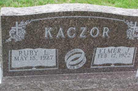 KACZOR, RUBY L. - Boyd County, Nebraska | RUBY L. KACZOR - Nebraska Gravestone Photos