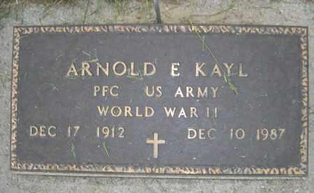 KAYL, ARNOLD E. - Boyd County, Nebraska | ARNOLD E. KAYL - Nebraska Gravestone Photos