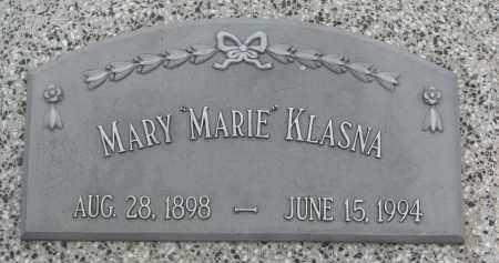 "KLASNA, MARY ""MARIE"" - Boyd County, Nebraska | MARY ""MARIE"" KLASNA - Nebraska Gravestone Photos"