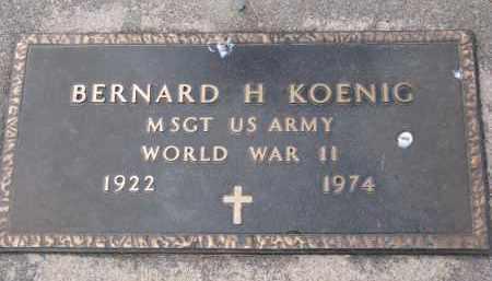 KOENIG, BERNARD H. - Boyd County, Nebraska   BERNARD H. KOENIG - Nebraska Gravestone Photos