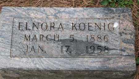KOENIG, ELNORA - Boyd County, Nebraska | ELNORA KOENIG - Nebraska Gravestone Photos