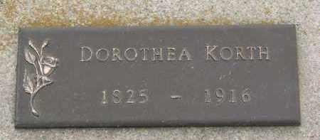 KORTH, DOROTHEA - Boyd County, Nebraska | DOROTHEA KORTH - Nebraska Gravestone Photos