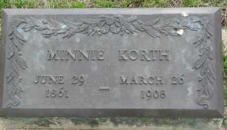 KORTH, MINNIE - Boyd County, Nebraska   MINNIE KORTH - Nebraska Gravestone Photos