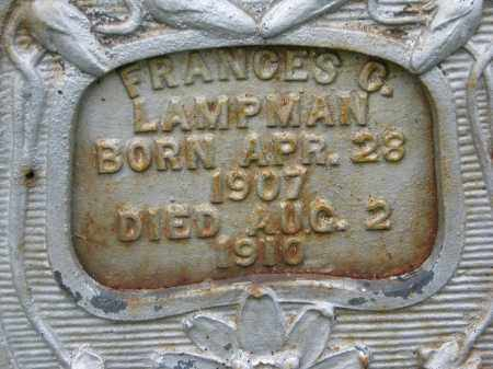 LAMPMAN, FRANCES C. (CLOSEUP) - Boyd County, Nebraska | FRANCES C. (CLOSEUP) LAMPMAN - Nebraska Gravestone Photos