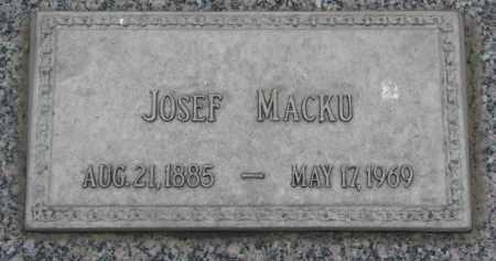 MACKU, JOSEF - Boyd County, Nebraska | JOSEF MACKU - Nebraska Gravestone Photos