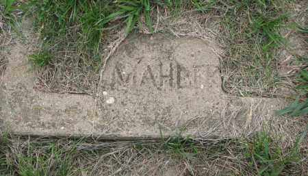 MAHLER, UNKNOWN - Boyd County, Nebraska | UNKNOWN MAHLER - Nebraska Gravestone Photos
