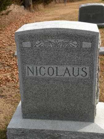 NICOLAUS, JOHN SR. - Boyd County, Nebraska | JOHN SR. NICOLAUS - Nebraska Gravestone Photos