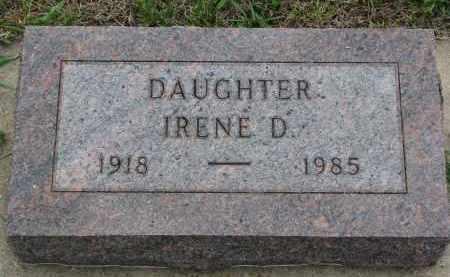 PAPSTEIN, IRENE D. - Boyd County, Nebraska   IRENE D. PAPSTEIN - Nebraska Gravestone Photos